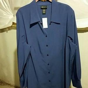Button front long sleeve shirt